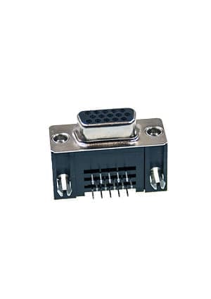 1-1734530-3, HD-22 15 Pos receptacle Right Angle