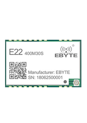 E22-400M30S, Module Low consumption,anti-interference; SPI; IPEX/STAMP; 433MHz 470M; 30dBm; 12; 0.01