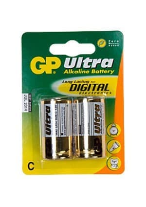 GP 14AU-BC2 ULTRA PLUS ALKALINE ( LR14C343 ), GP 14AU, Ultra Plus, alkaline, ( LR14,C,343 ) ,1шт.
