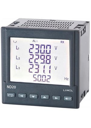 ND20 211100E0, 3-phase network meter, LCD